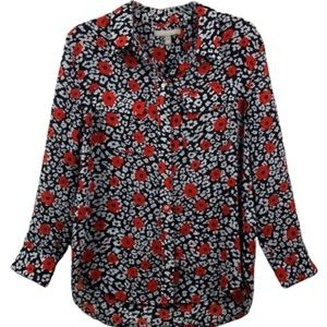 BANANA REPUBLIC TOP FLORA DESIGN LONG SLEEVES